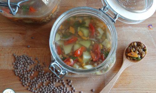 Zuppa di lenticchie in vasocottura