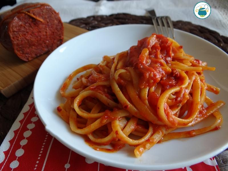 Pasta con la nduja ai due pomodori / primo piatto
