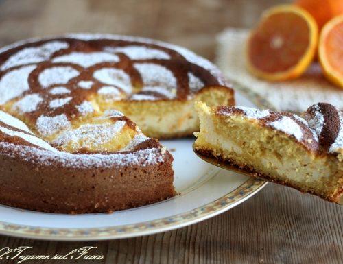 Torta magica con crema di ricotta e arancia