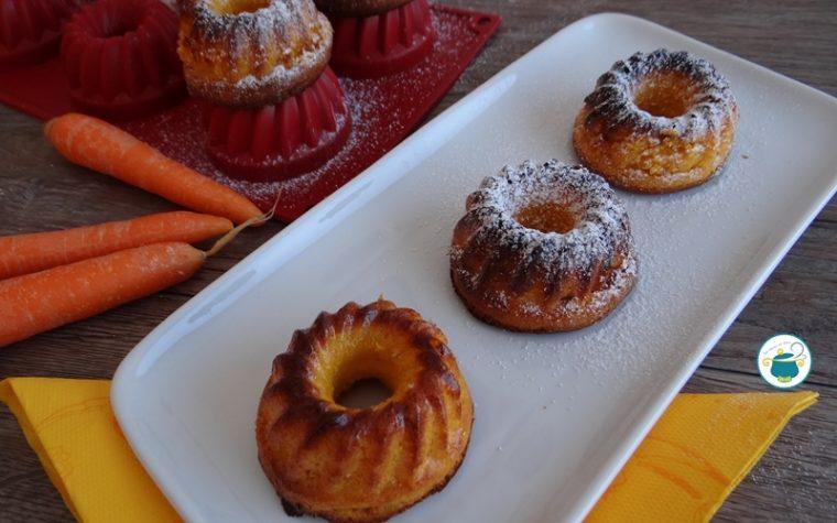 Tortine di carote e mandorle veg / senza lievito e senza zucchero