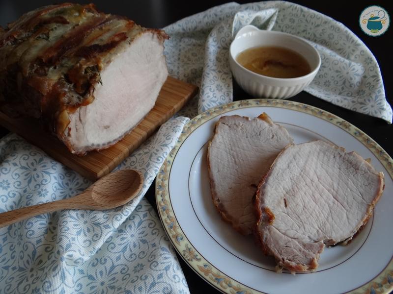 Arrosto di lonza lardellato agli aromi / secondo piatto