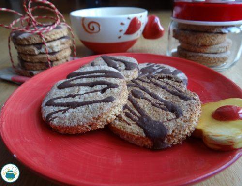 Biscotti integrali al cocco e cioccolato / ricetta senza zuccheri