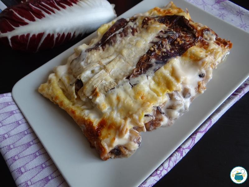 Cannelloni al radicchio e taleggio / primo piatto