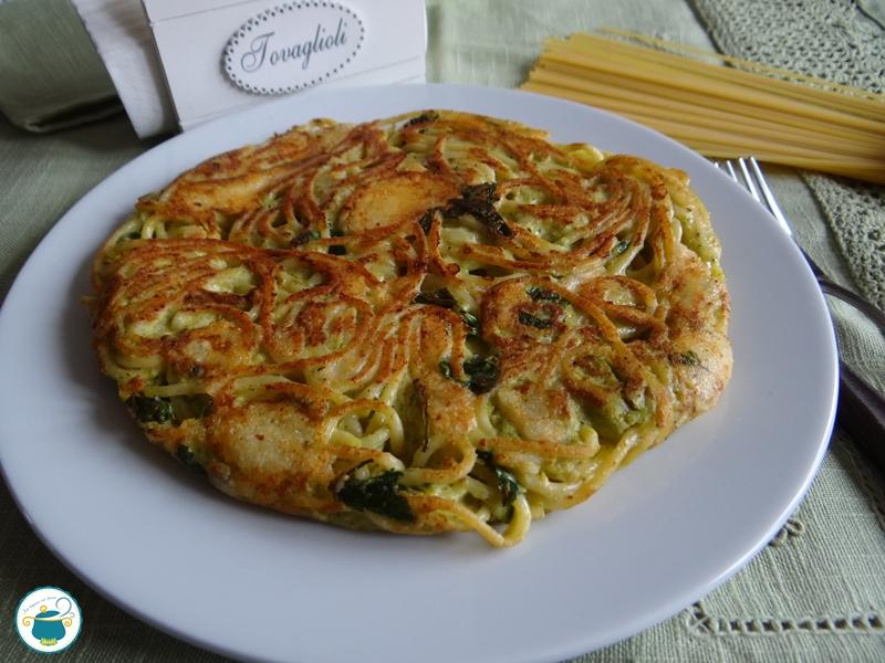 Broccoli & Spaghetti Frittata Recipe — Dishmaps