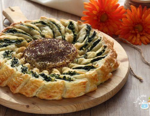 Torta salata a girasole / ricetta facile per le feste