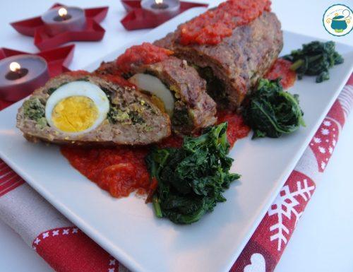 Polpettone di carne con uova e cime di rapa / secondi