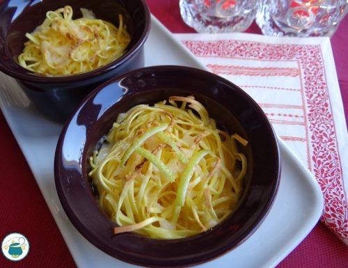 Tagliolini gratinati al limone e panna /primo piatto