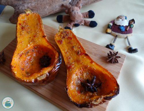 Zucca violina al forno alle spezie e clementine / contorni
