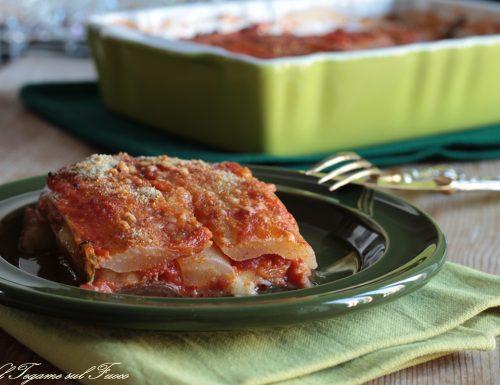 Parmigiana di bietola con formaggio e prosciutto