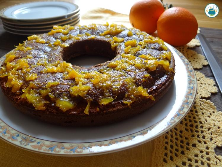 Ciambella alle arance e mascarpone con coulis di arance
