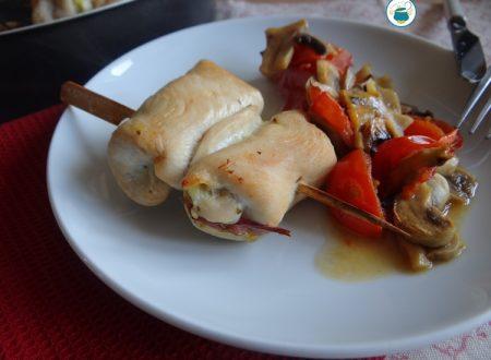 Involtini di pollo al curry con verdure