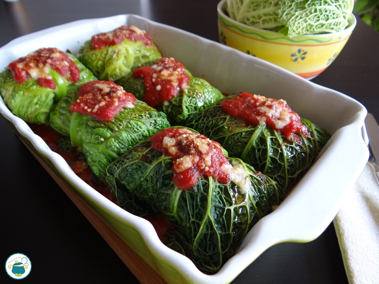 Fagottini di verza ripieni di quinoa