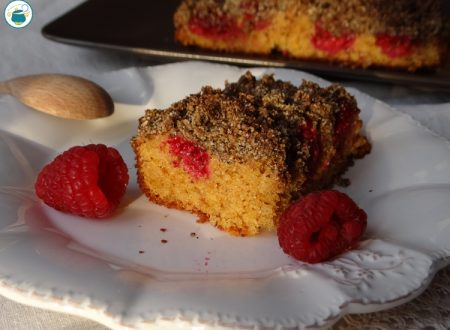 Torta crumble ai lamponi