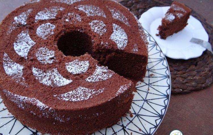 Chiffon cake al cioccolato