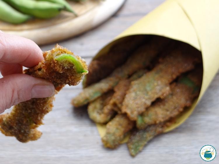 Chips di bucce di fave