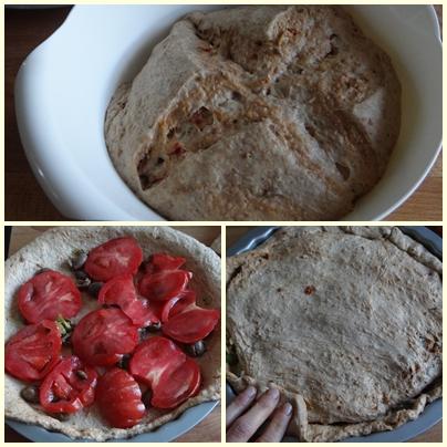 Focaccia ai cereali e pomodori secchi