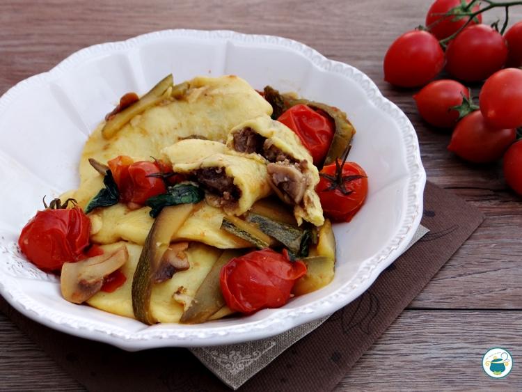 Ravioli di patate ai funghi