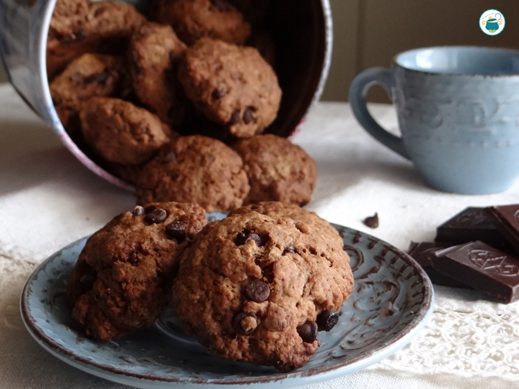 Cookies allo yogurt e cioccolato, senza burro