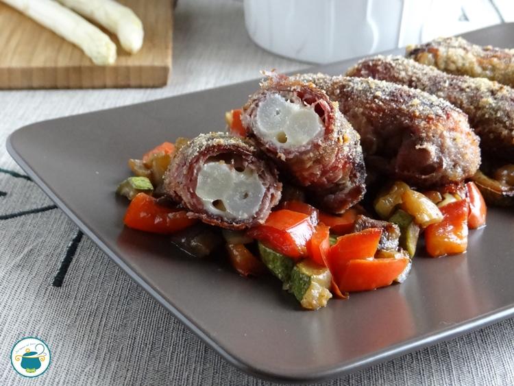 Involtini di Carne agli Asparagi Bianchi