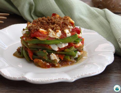 Tortino di fave – ricetta con bucce di fave –