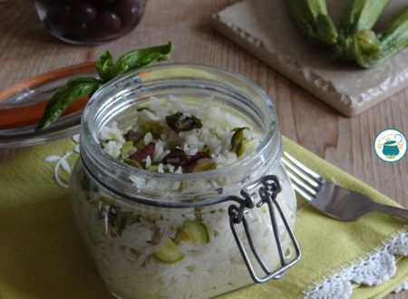 Riso e zucchine in vasocottura alle olive