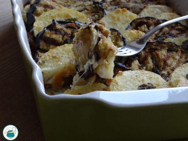 Melanzane e patate gratinati