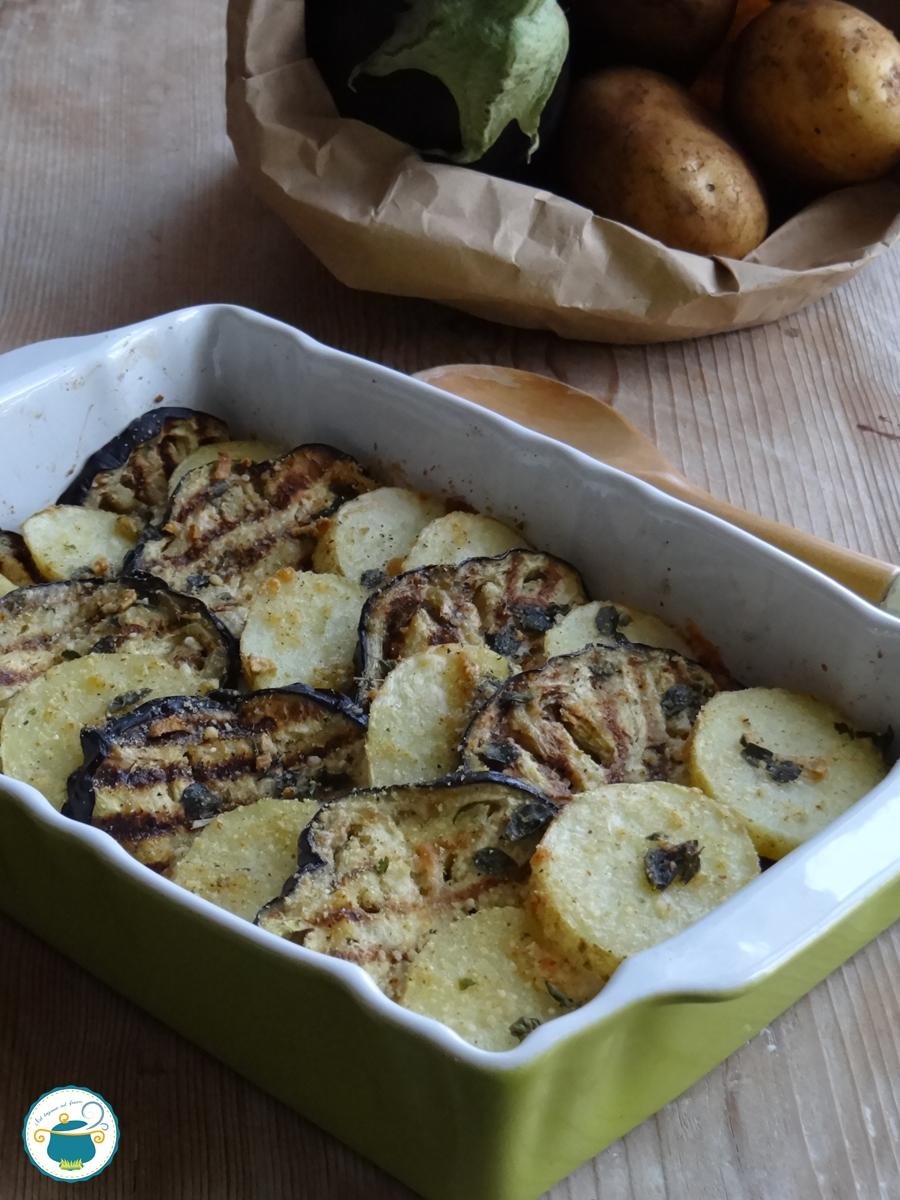 Tortino di melanzane e patate, ricetta facile e leggera