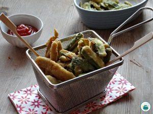 Pollo e zucchine croccanti