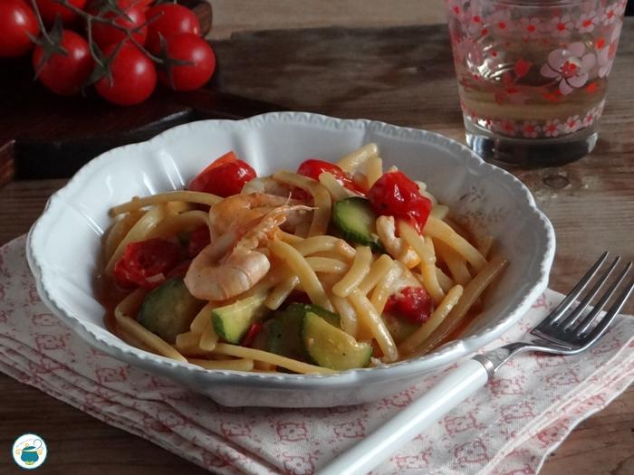 Scialatelli con gamberi e zucchine