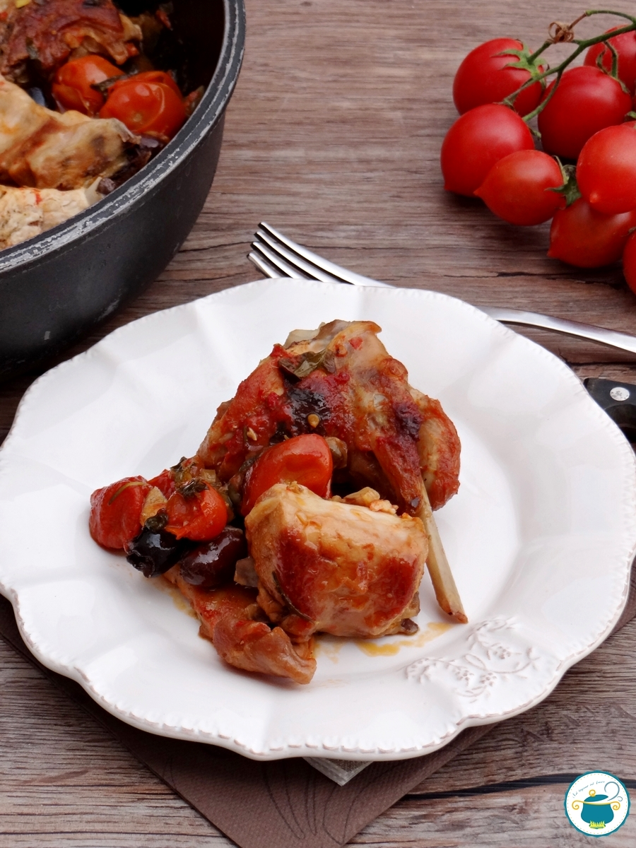 ricetta coniglio con pomodorini