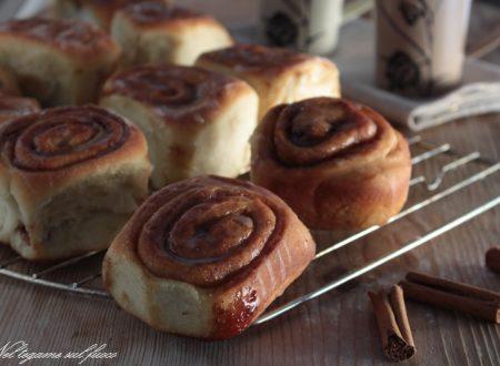 Cinnamon rolls senza burro