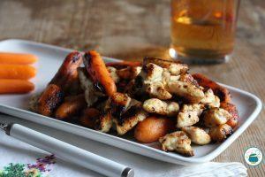 Pollo e carote in padella