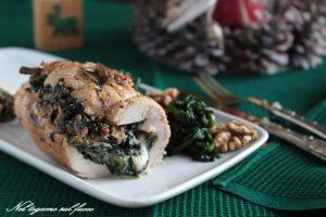 Tasca di pollo ripiena con spinaci