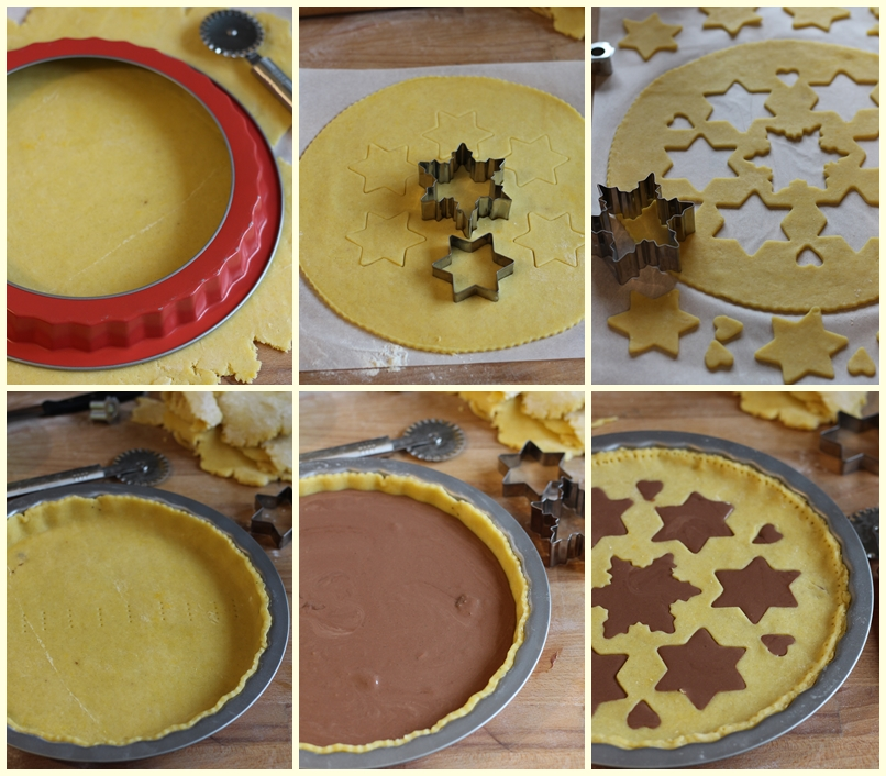 come decorare una crostata per Natale