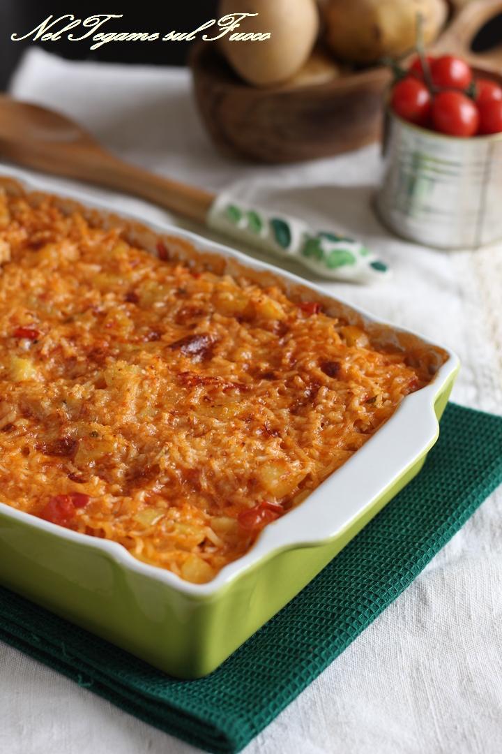 ricetta del riso al forno con patate