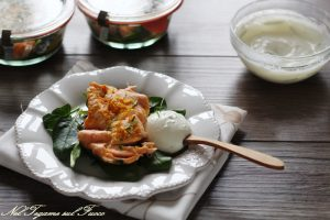 Salmone in vasocottura