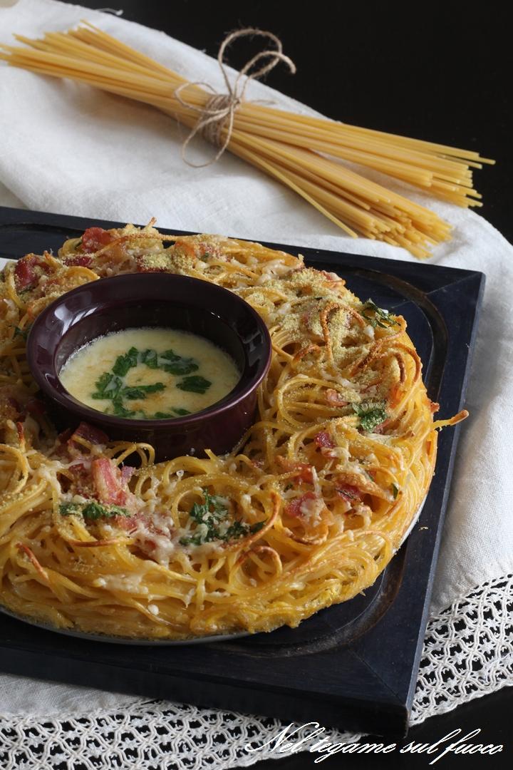 Frittata di spaghetti alla carbonara