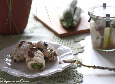 Involtini di pollo in vasocottura con zucchine e olive