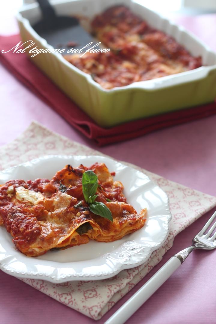 lasagne+burrata+pomodoro