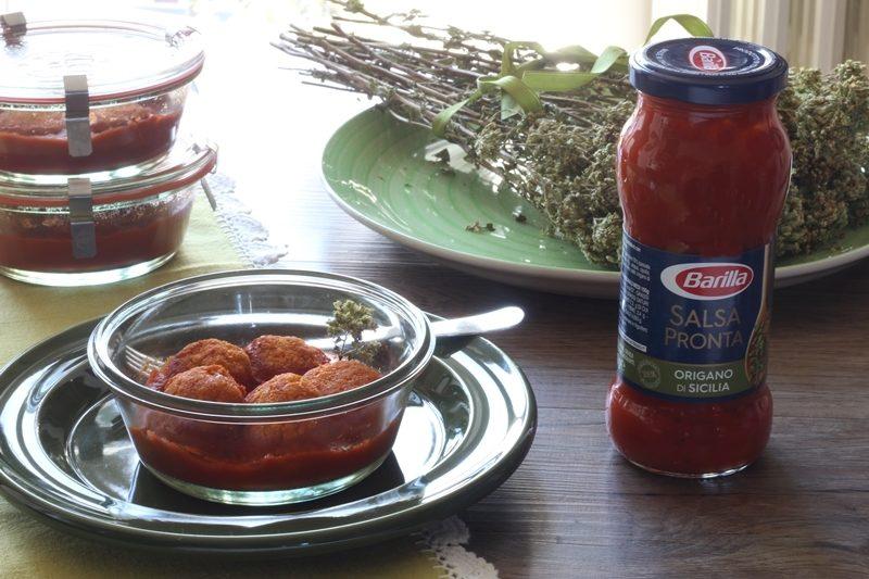 Polpette di merluzzo al pomodoro in vasocottura