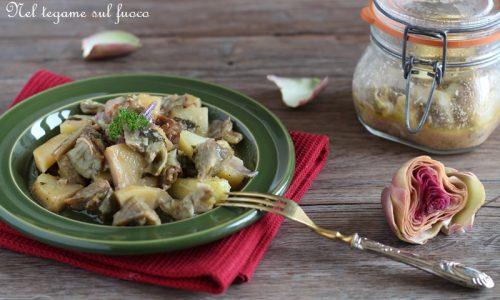 Carciofi e patate in vasocottura