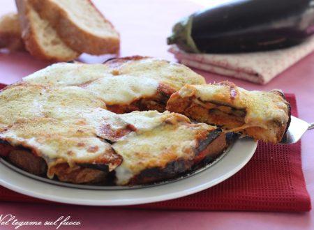 Torta di pane e melanzane