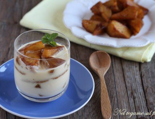 Coppa crema e ananas caramellato