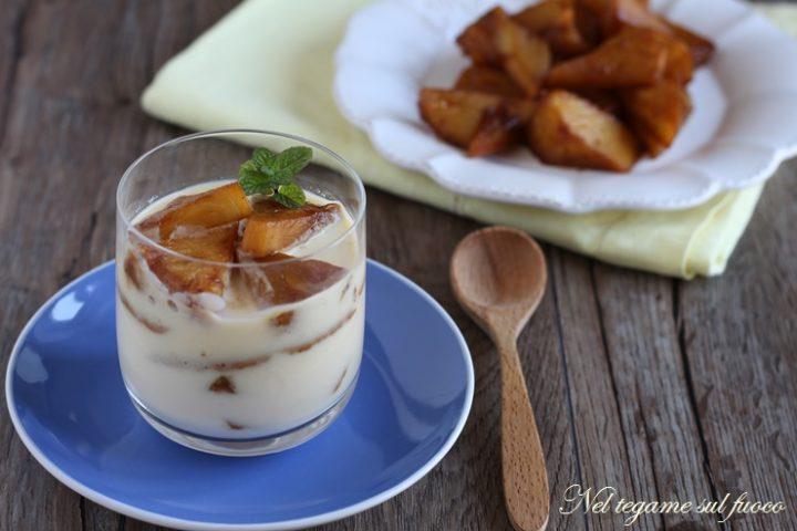 Coppa crema e ananas