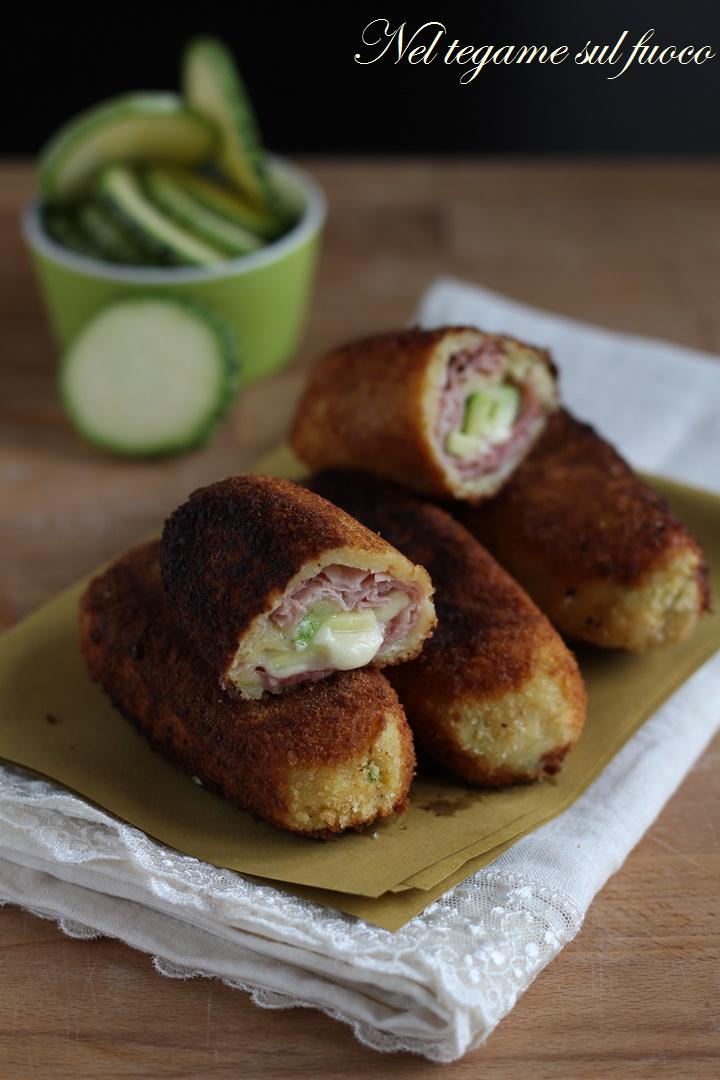crocchette di patate e zucchine ripiene