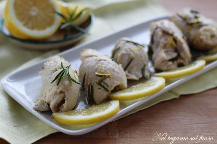 Involtini di pollo al limone