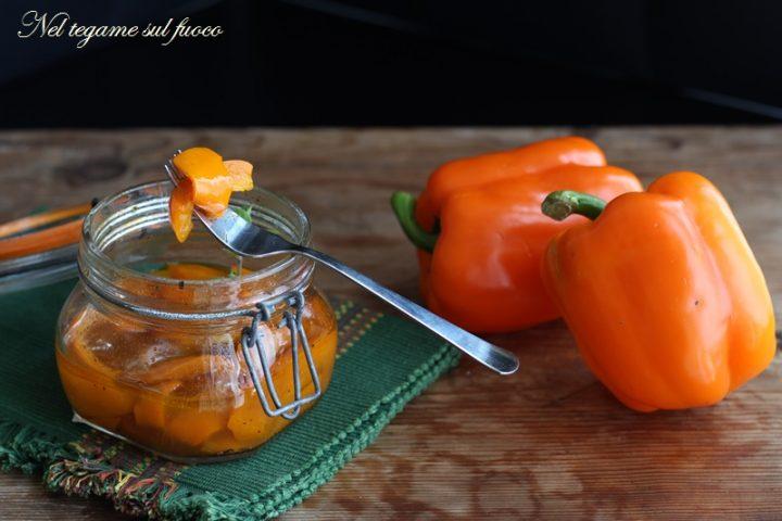 Peperoni in agrodolce in vasocottura