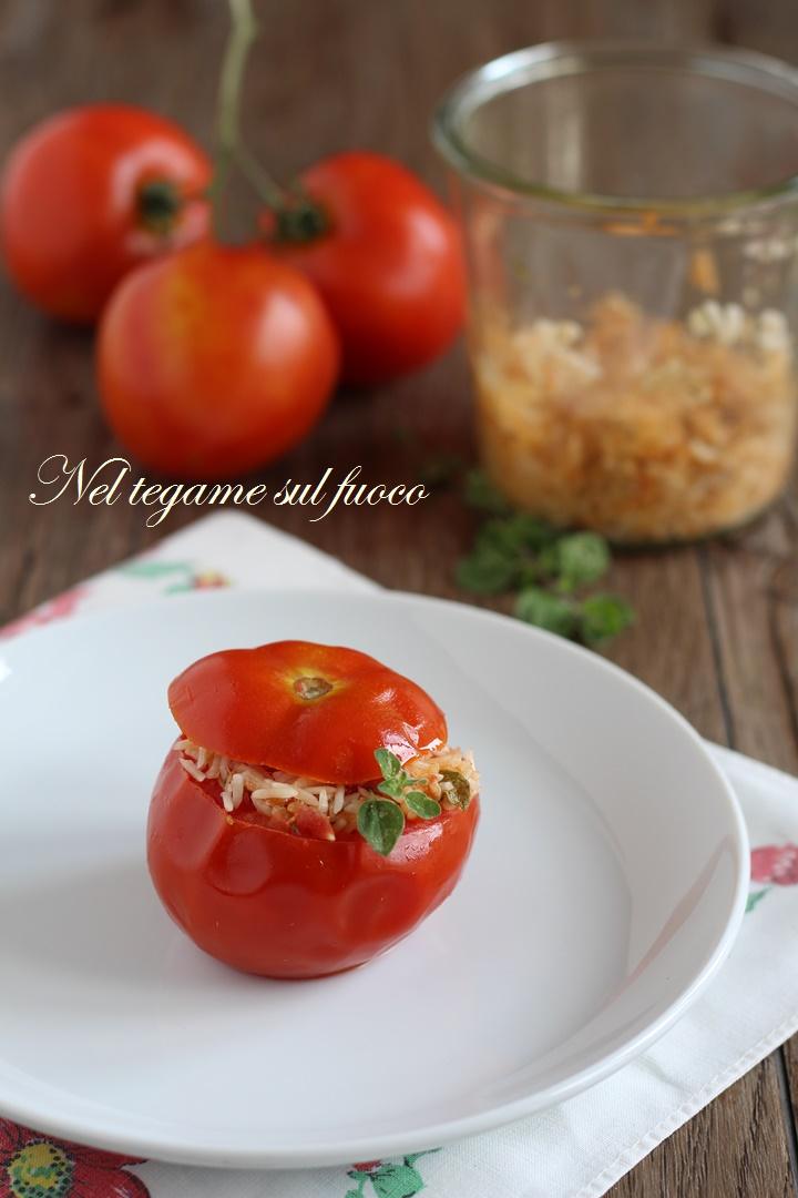 pomodori+ripieni+riso+basmati+tonno