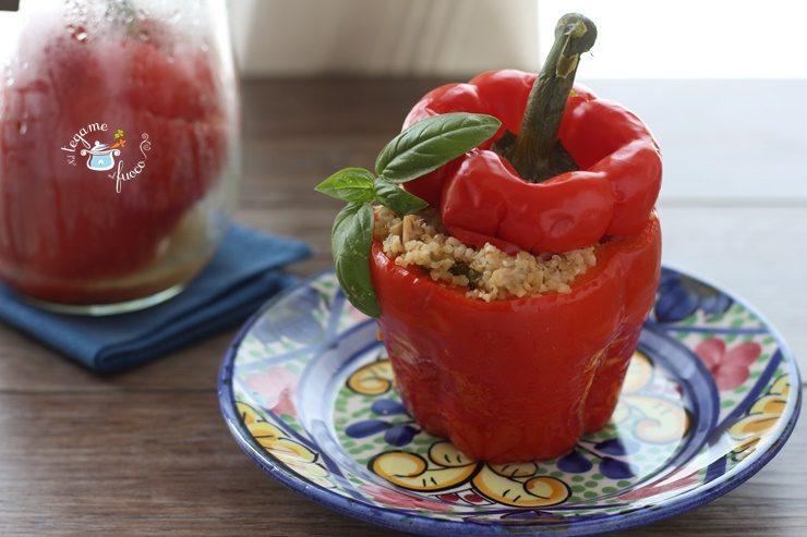 Peperoni ripieni in vasocottura