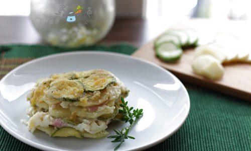 Tortino patate e zucchine